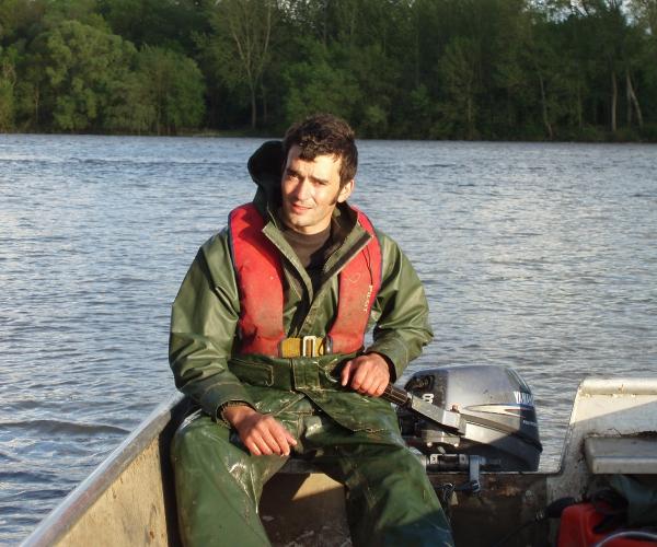 Nicolas partant à la pêche
